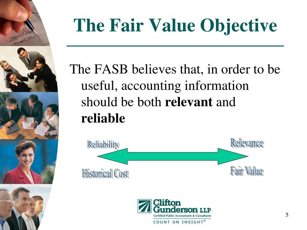 The Fair Value Objective