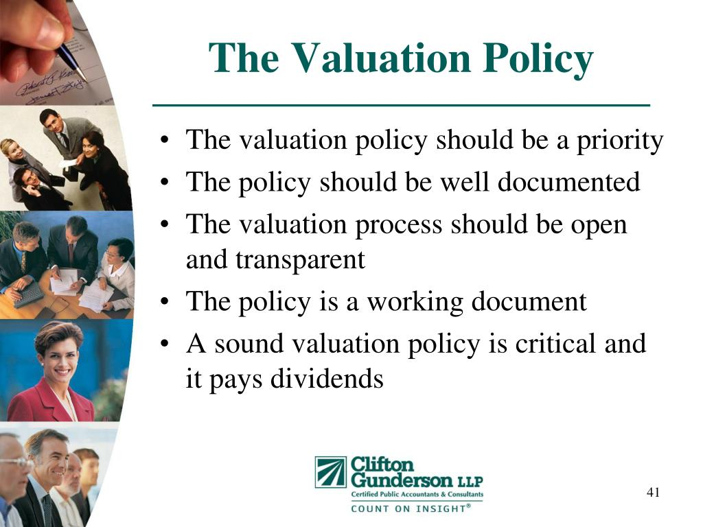 The Valuation Policy