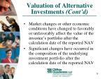valuation of alternative investments cont d29