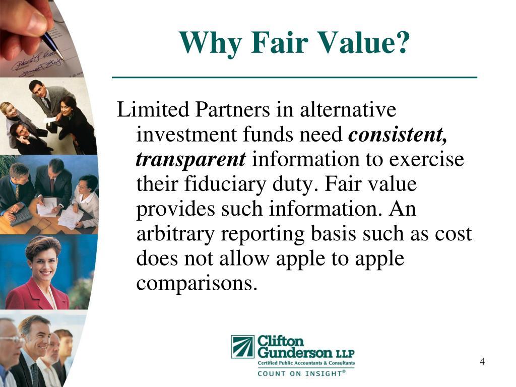 Why Fair Value?