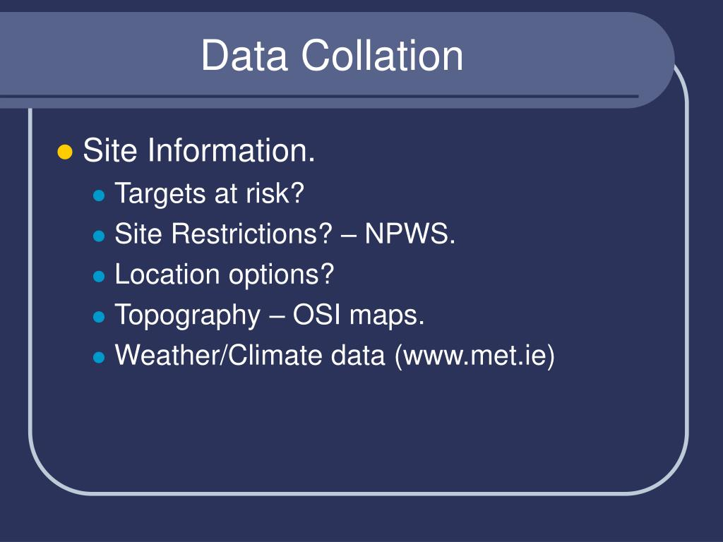 Data Collation