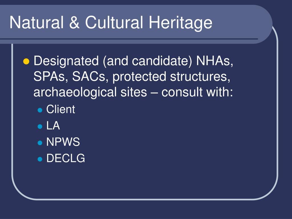 Natural & Cultural Heritage