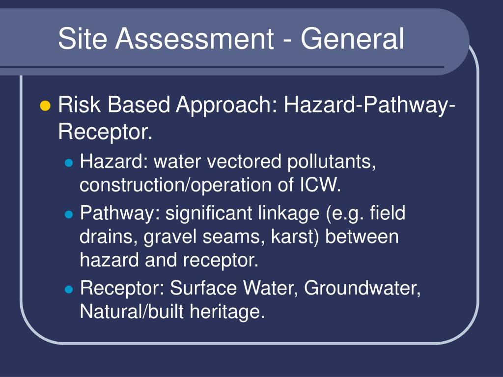 Site Assessment - General