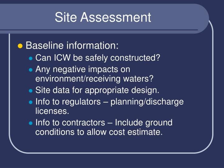 Site assessment