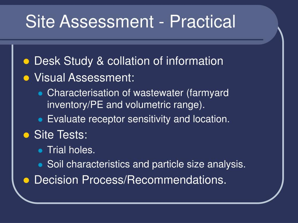 Site Assessment - Practical