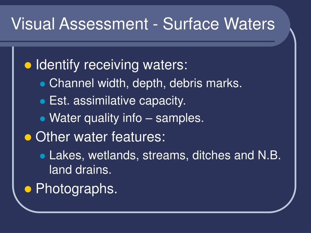 Visual Assessment - Surface Waters