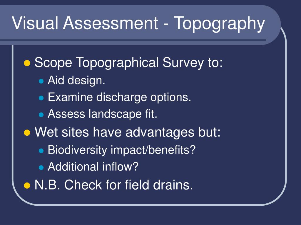 Visual Assessment - Topography