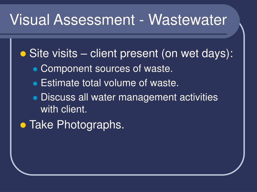 Visual Assessment - Wastewater
