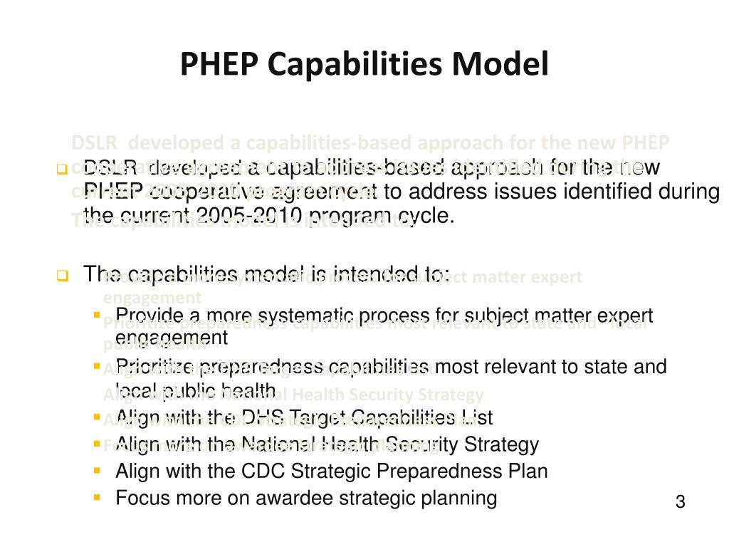 PHEP Capabilities Model
