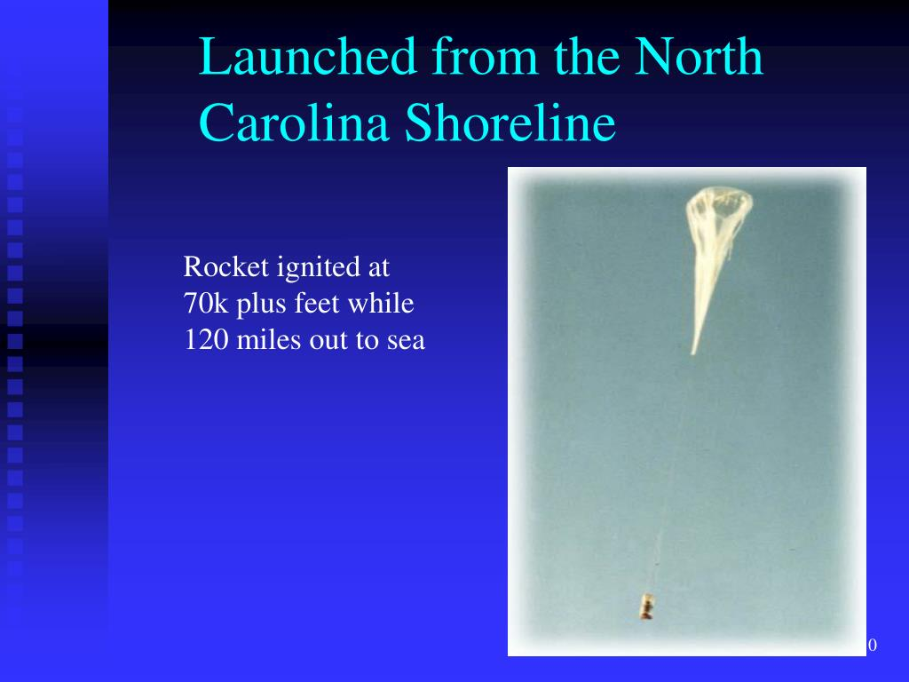 Launched from the North Carolina Shoreline