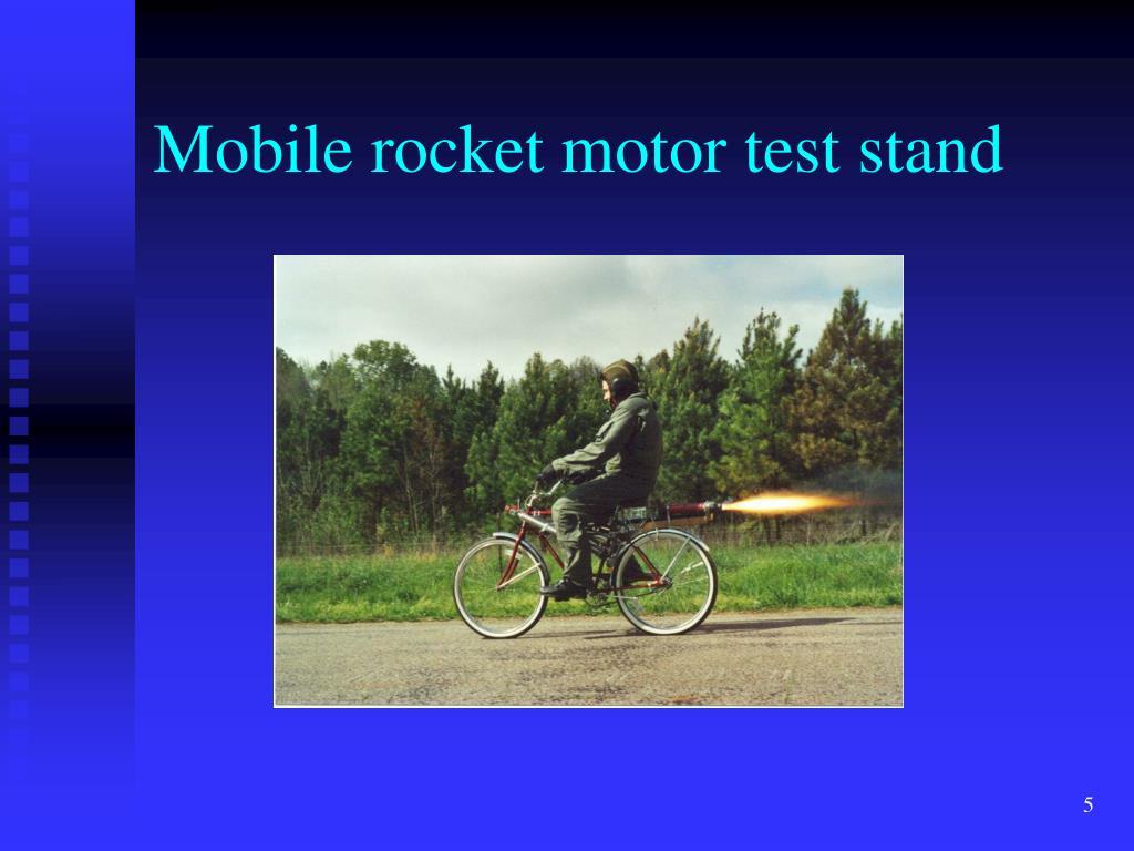 Mobile rocket motor test stand