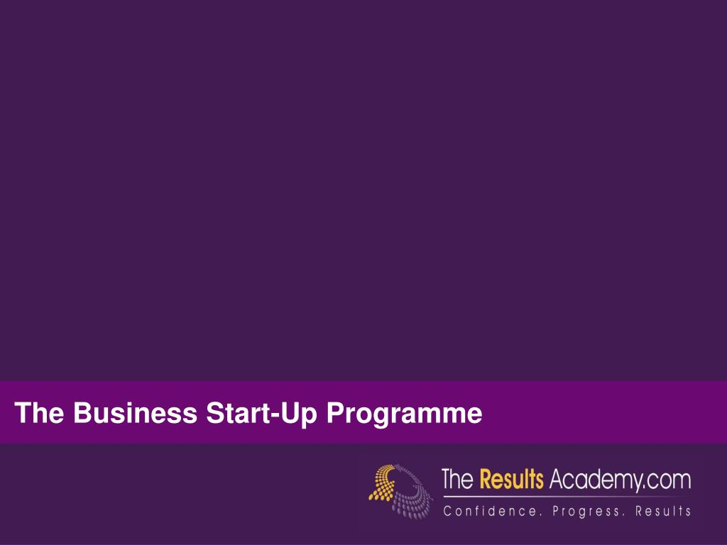 The Business Start-Up Programme