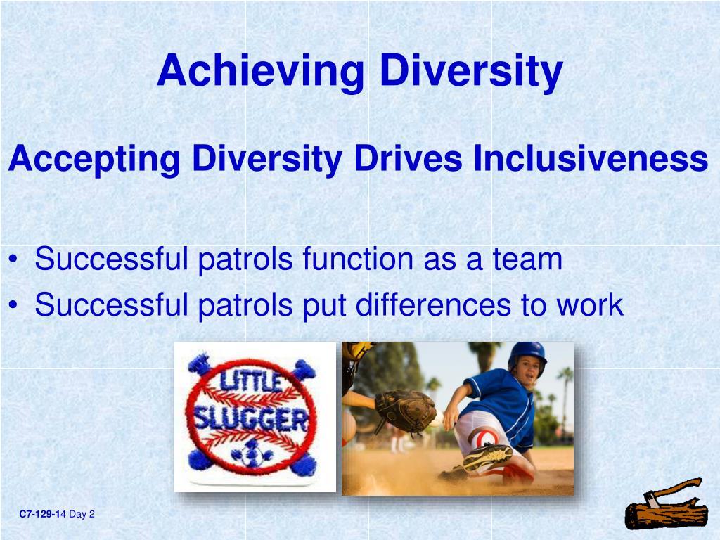 Achieving Diversity