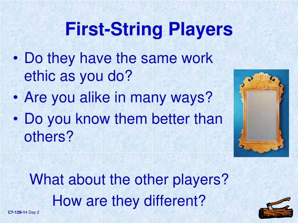 First-String Players