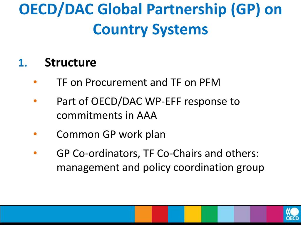 OECD/DAC Global Partnership (GP) on Country Systems