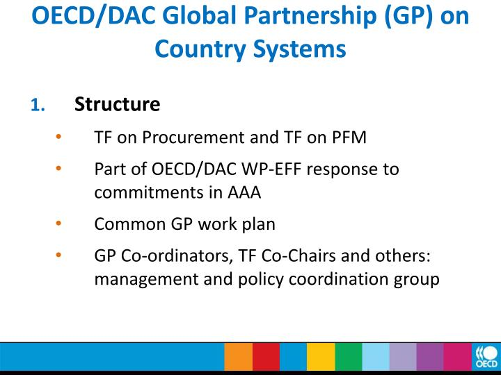 Oecd dac global partnership gp on country systems