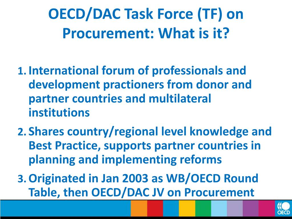 OECD/DAC Task Force (TF) on Procurement: What is it?