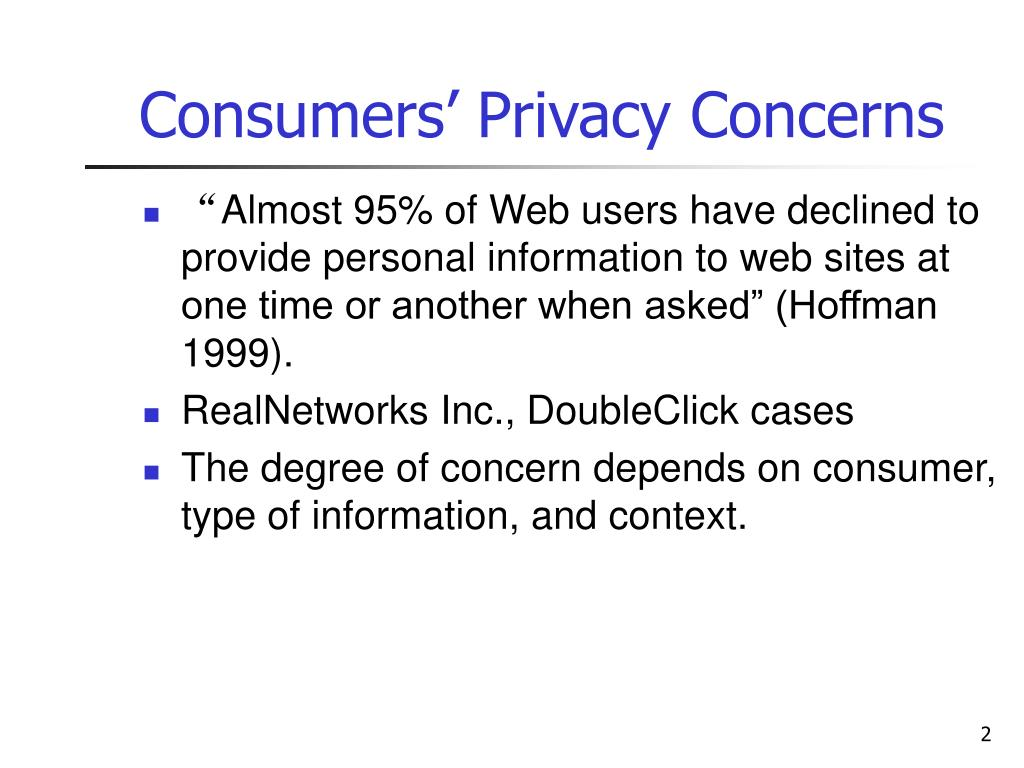 Consumers' Privacy Concerns