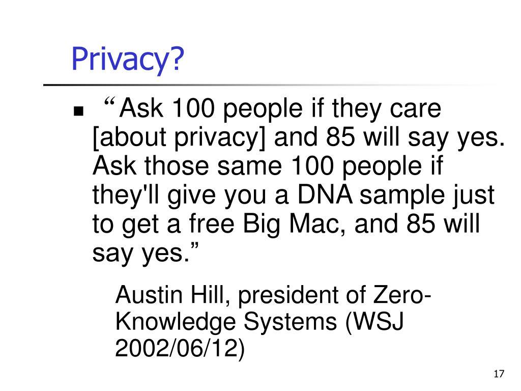 Privacy?