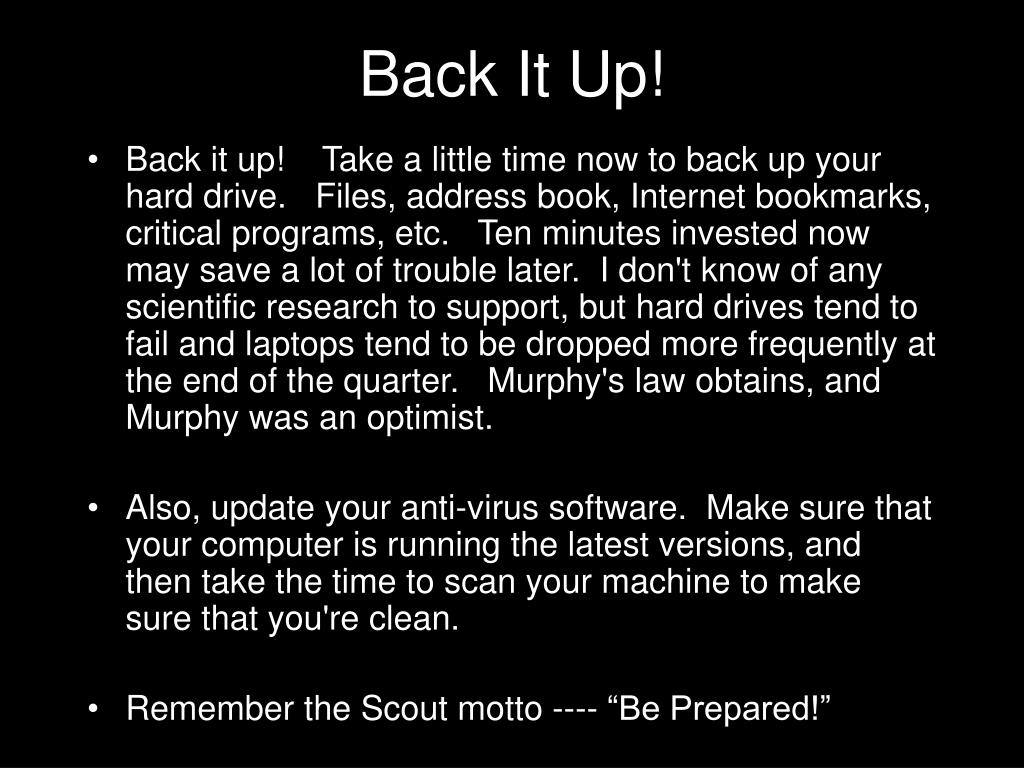 Back It Up!