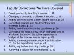 faculty corrections we have covered