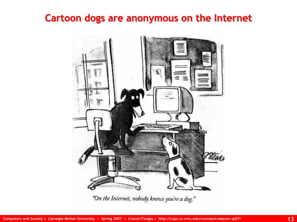 Cartoon dogs are anonymous on the Internet