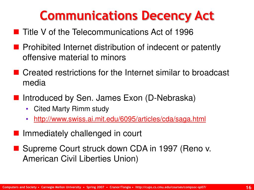 Communications Decency Act