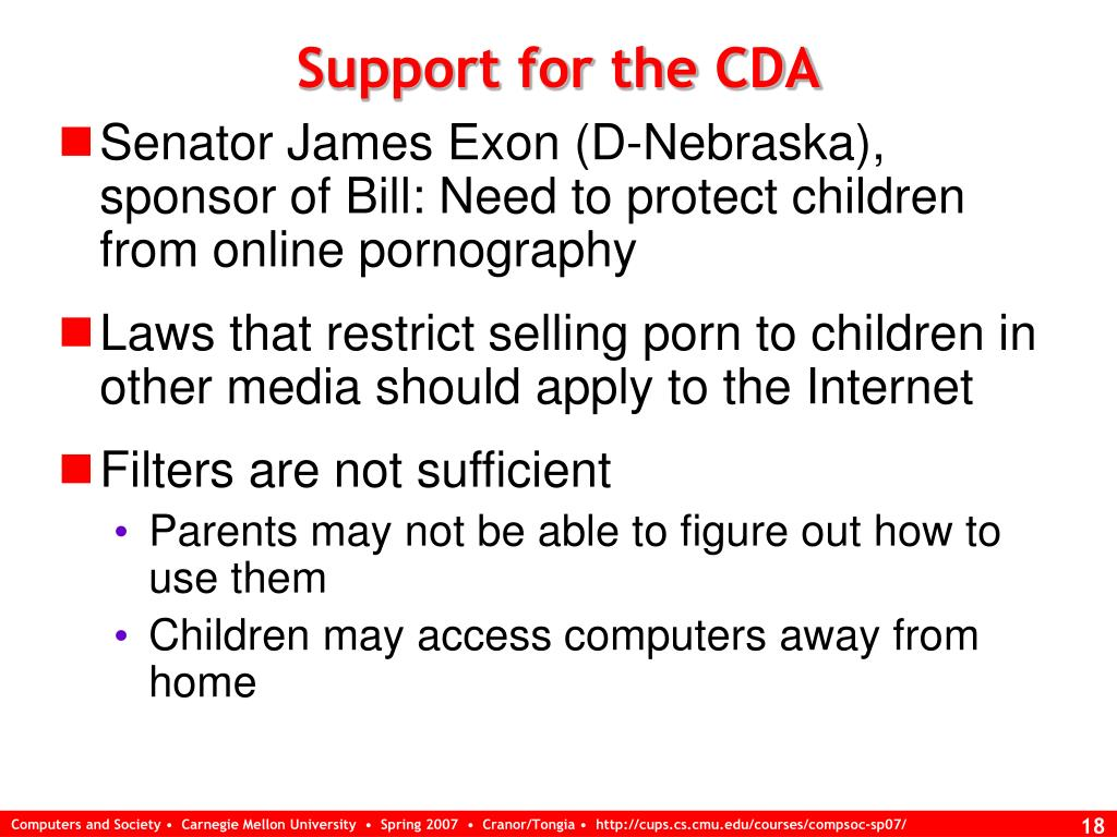 Support for the CDA