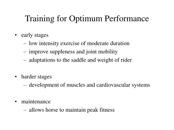 Training for Optimum Performance