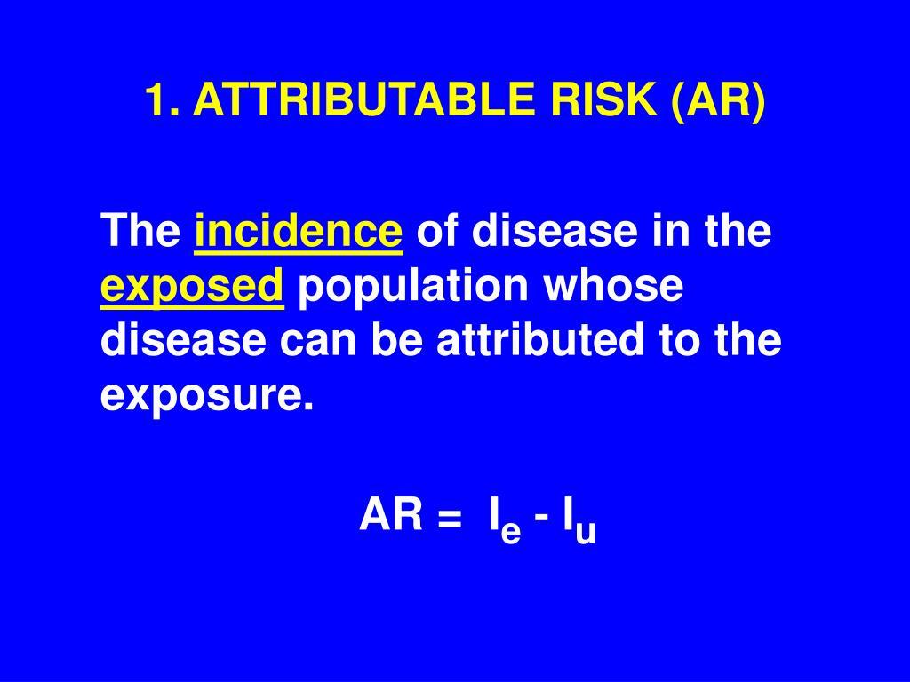 1. ATTRIBUTABLE RISK (AR)