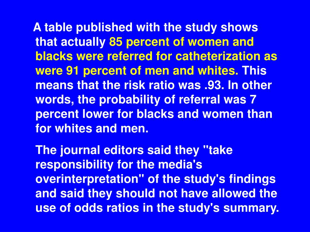 A table published with the study shows that actually