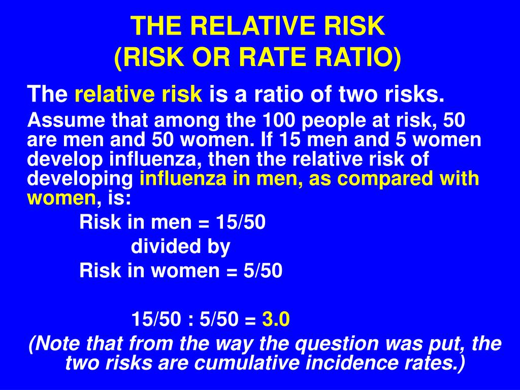 THE RELATIVE RISK