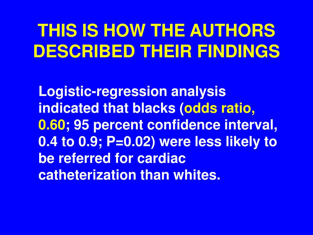 THIS IS HOW THE AUTHORS DESCRIBED THEIR FINDINGS