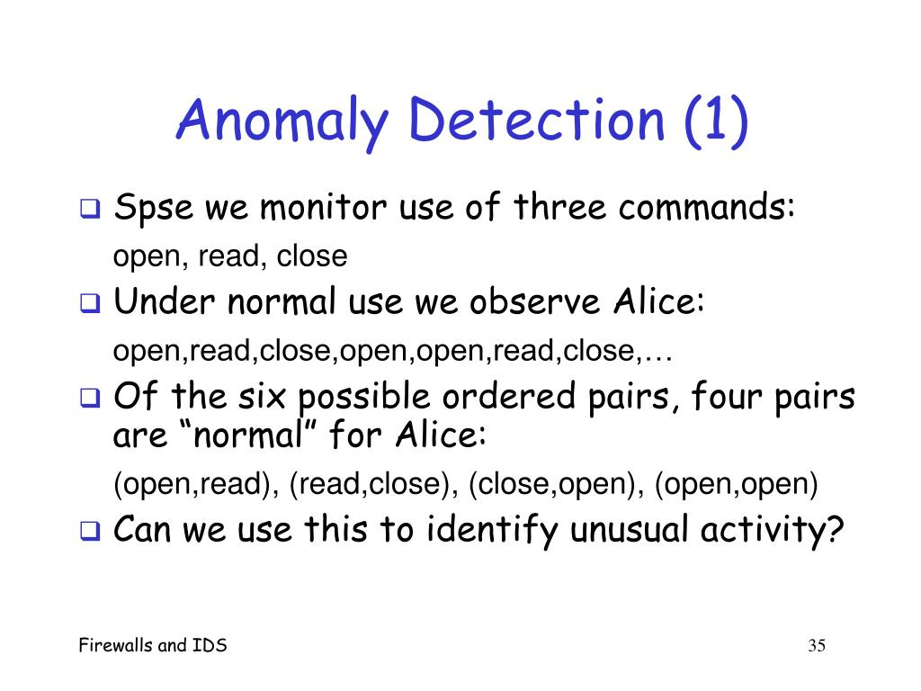 Anomaly Detection (1)
