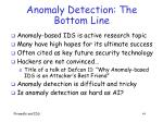 anomaly detection the bottom line