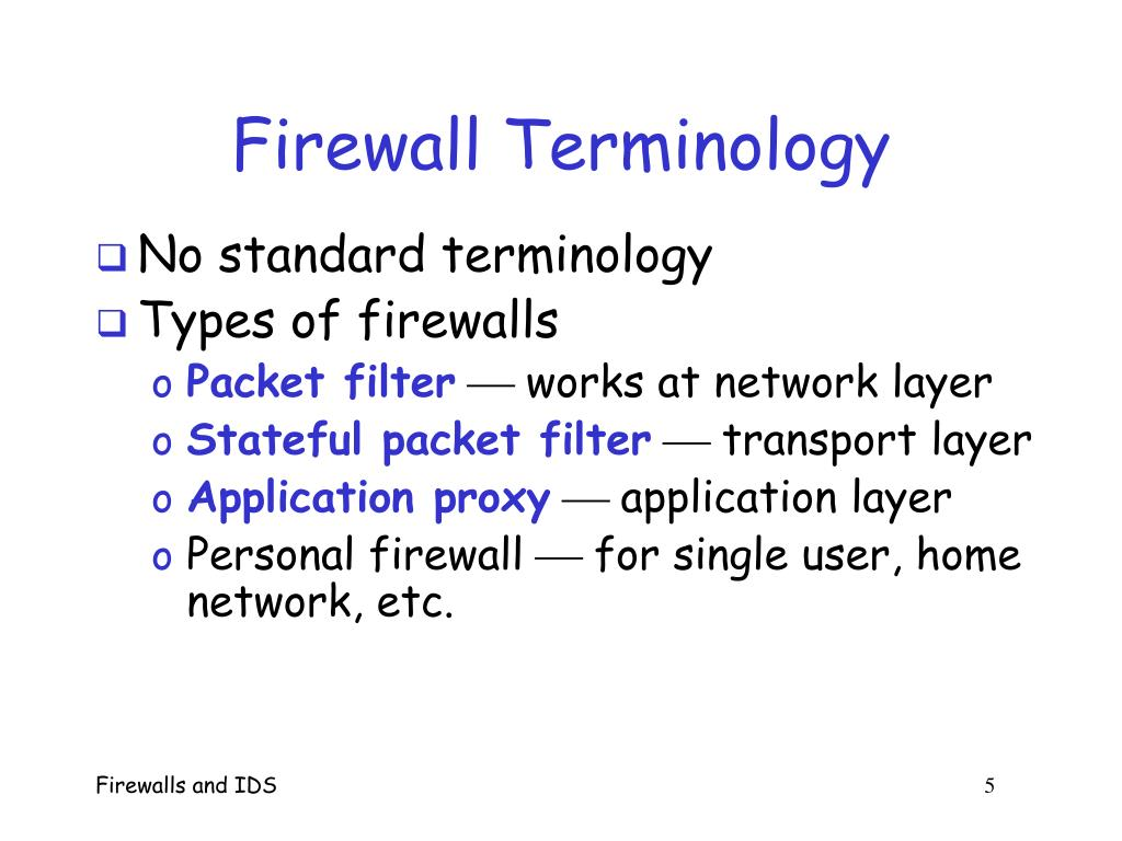 Firewall Terminology