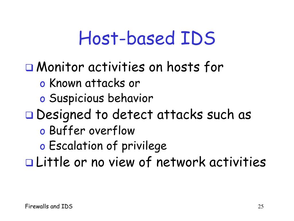 Host-based IDS
