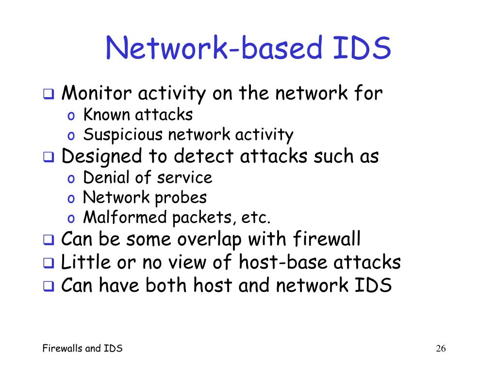 Network-based IDS