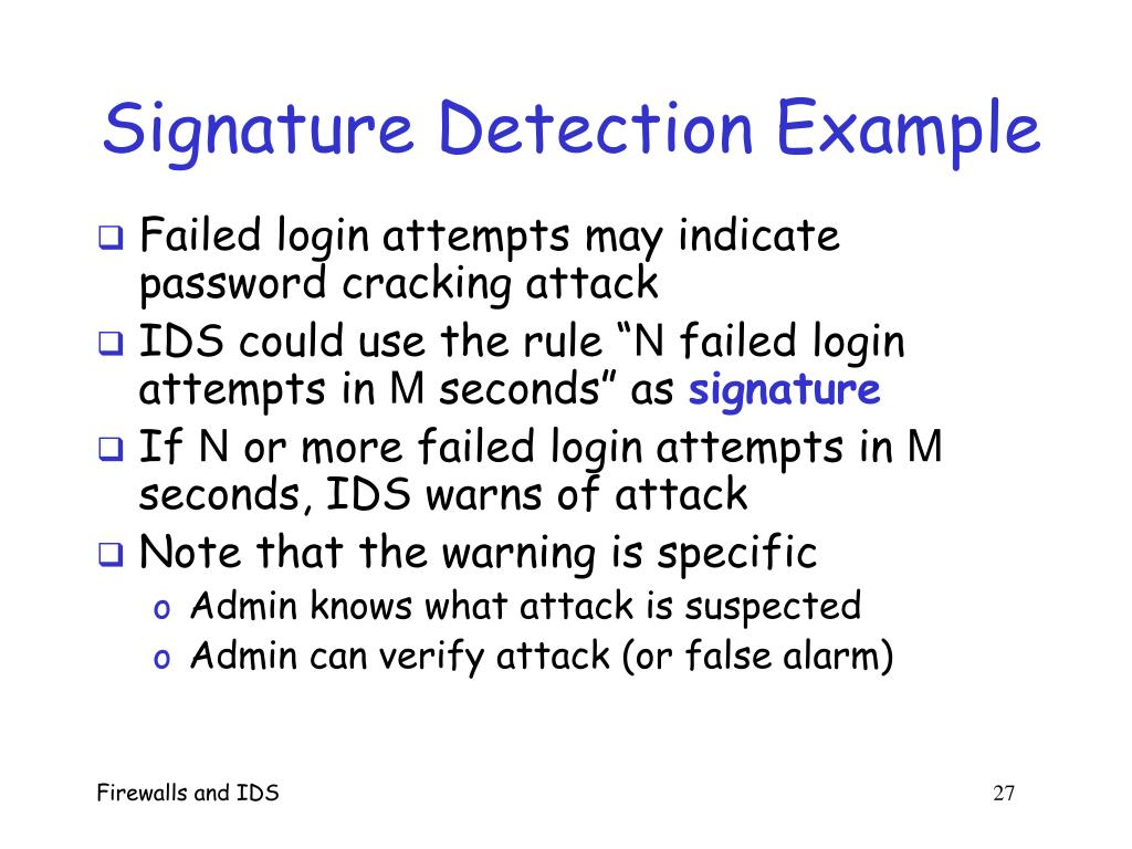 Signature Detection Example