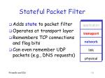 stateful packet filter