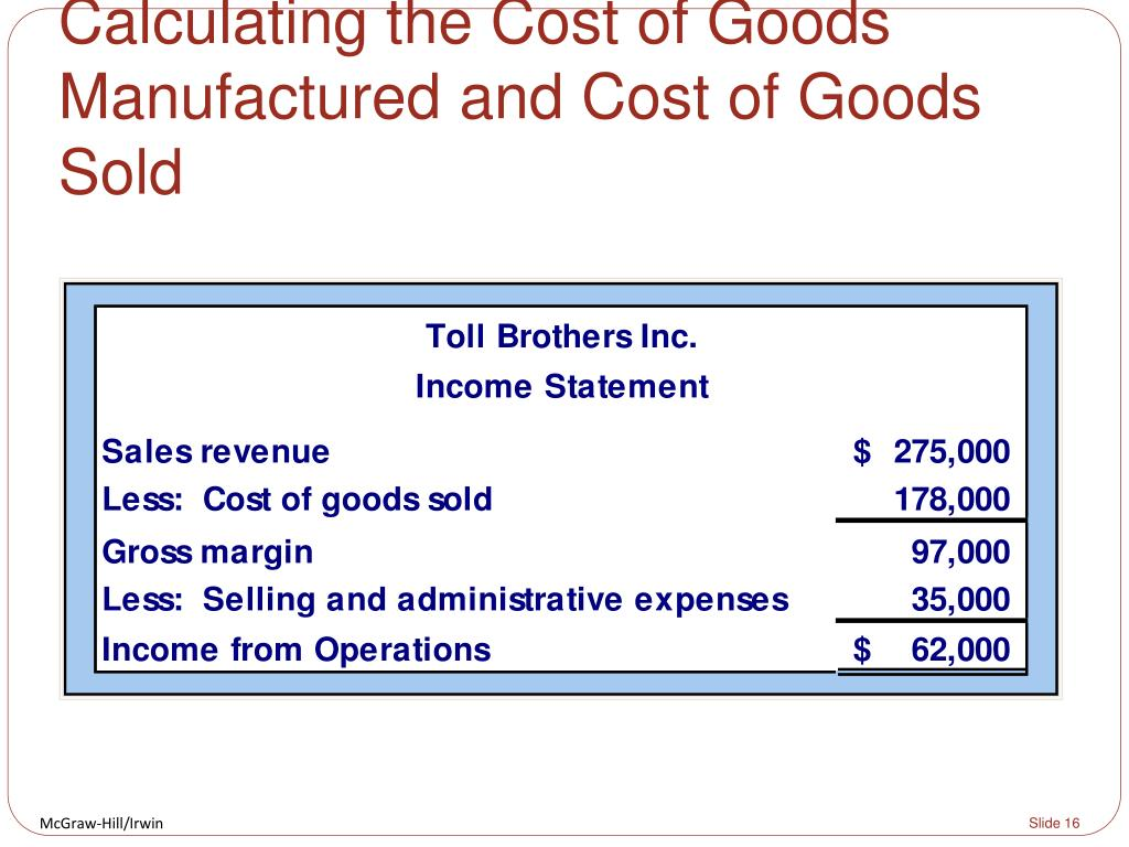 cost of good manufacture essay Review assessment: online assignment one s2 2012 essay 6cost of goods manufactured = beginning work in process if total manufacturing costs during august.