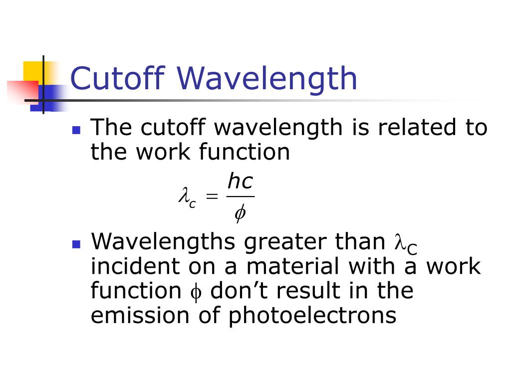 Cutoff Wavelength