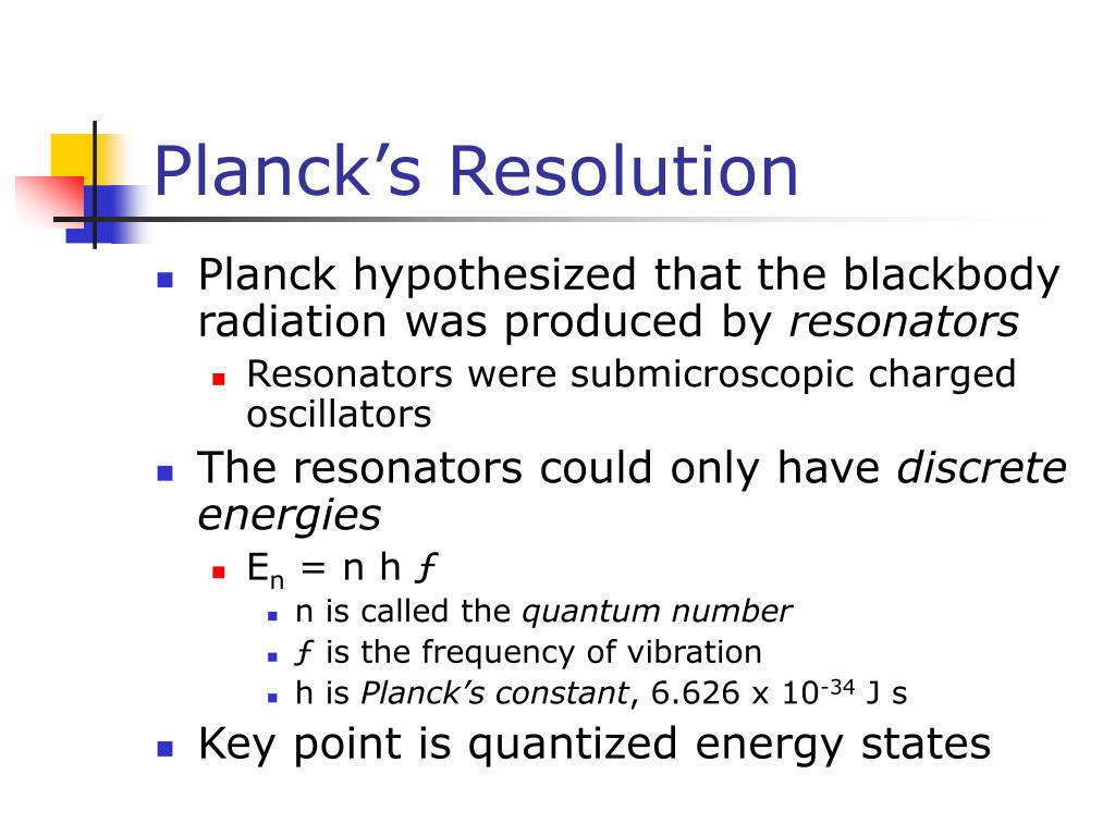Planck's Resolution
