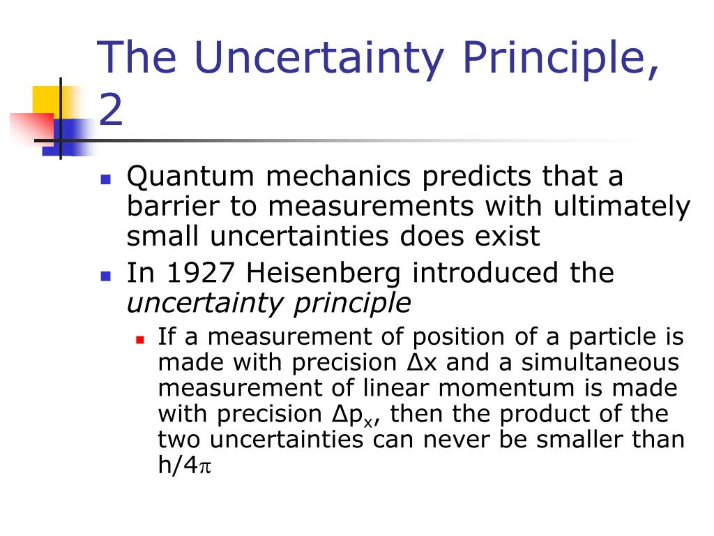 The Uncertainty Principle, 2