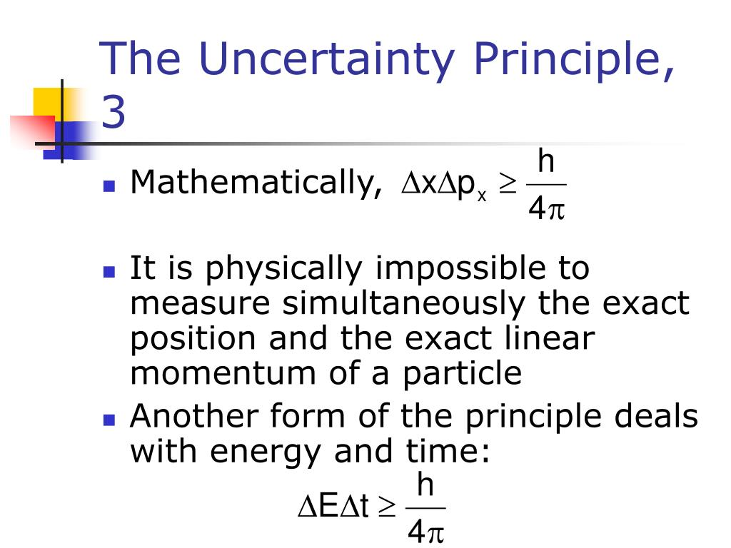 The Uncertainty Principle, 3