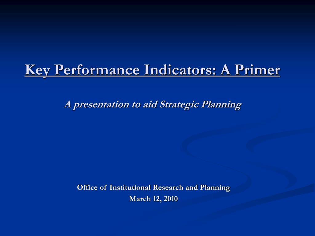 Key Performance Indicators: A Primer