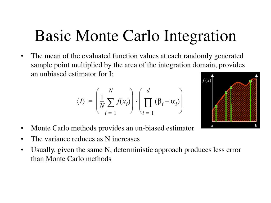 Basic Monte Carlo Integration
