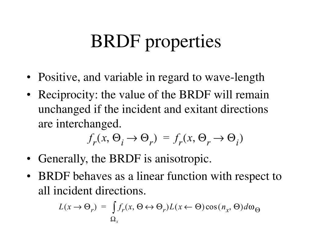 BRDF properties
