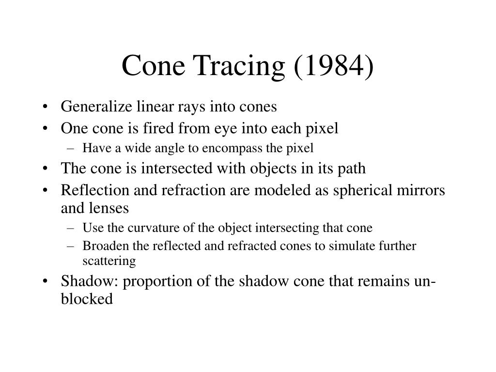Cone Tracing (1984)