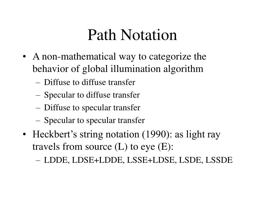 Path Notation